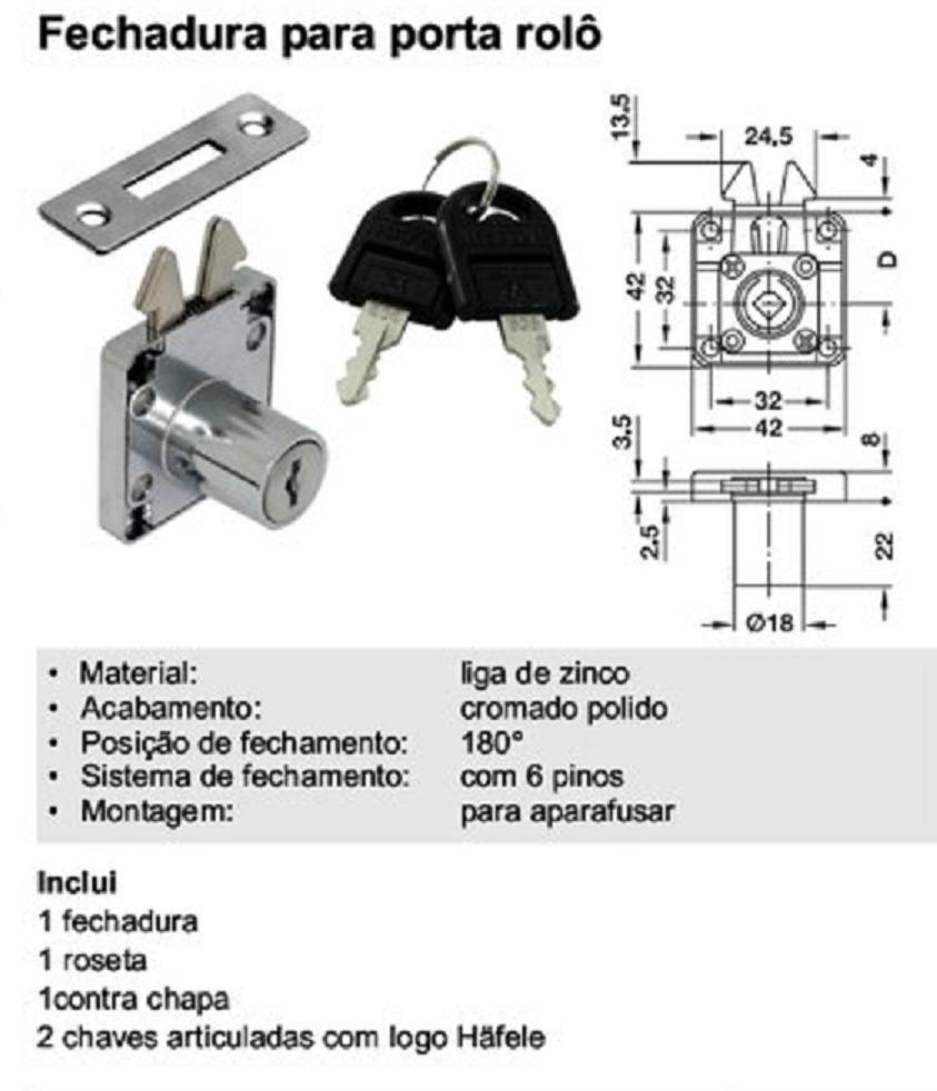 FECHADURA FGV PORTA CORRER